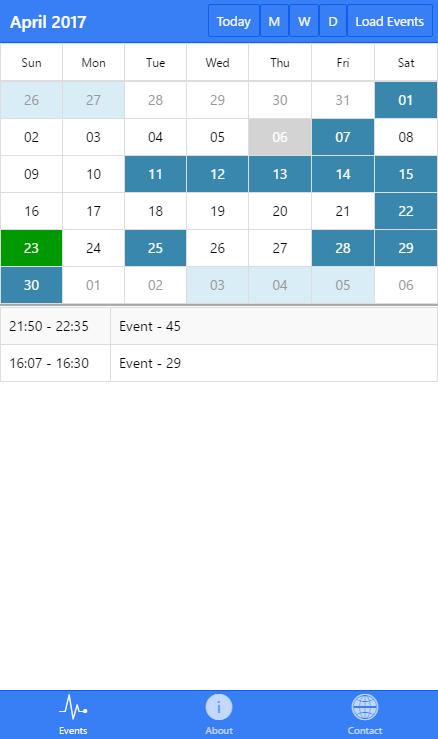 Ionic Event Calendar App Appbackyard 200 Mobile App Templates